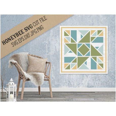 HoneybeeSVG Prairie Star Barn Quilt SVG Cut File