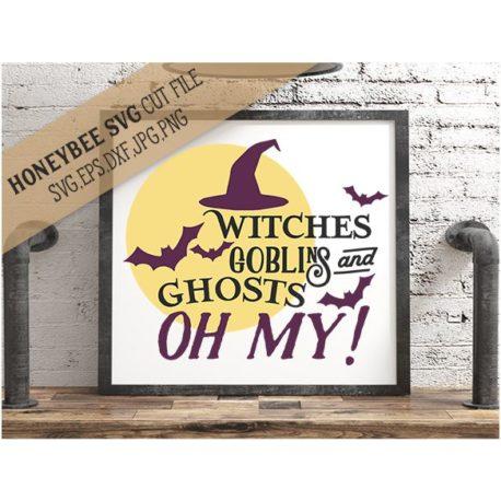 HoneybeeSVG Witches Goblins Ghosts SVG Cut File