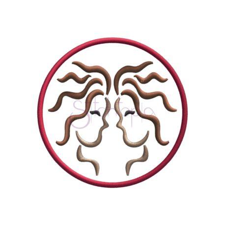 Stitchtopia Zodiac Applique Design - Gemini