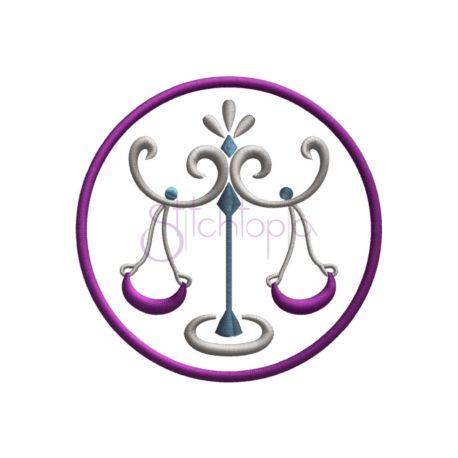 Stitchtopia Zodiac Applique Design - Libra