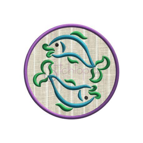 Stitchtopia Zodiac Applique Design - Pisces
