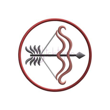 Stitchtopia Zodiac Applique Design - Sagittarius