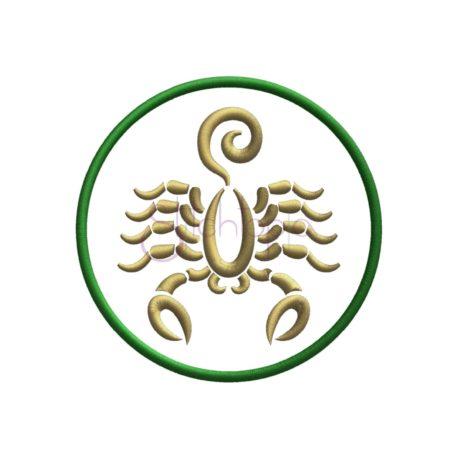 Stitchtopia Zodiac Applique Design - Scorpio