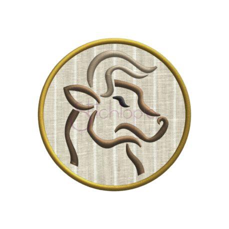 Stitchtopia Zodiac Applique Design - Taurus