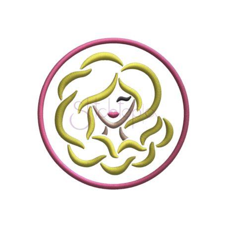 Stitchtopia Zodiac Applique Design - Virgo