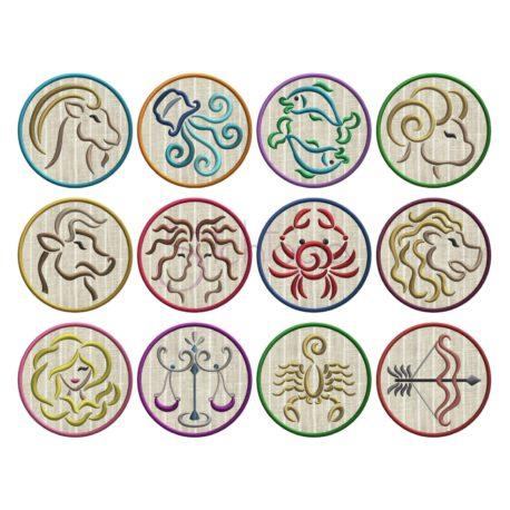 Stitchtopia Zodiac Applique Set