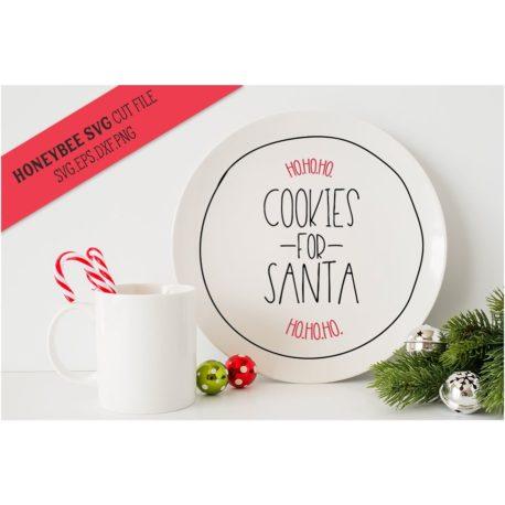HoneybeeSVG Cookies For Santa SVG Cut Files
