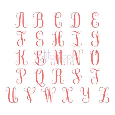 Stitchtopia Bailey Monogram Font