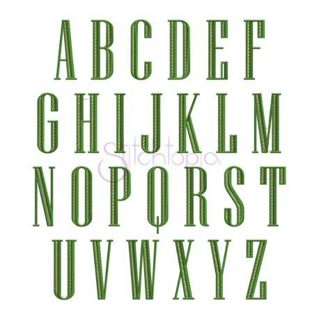 Stitchtopia Engraved Filled Monogram Font
