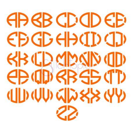 Stitchtopia Oval 2-Letter Monogram Font