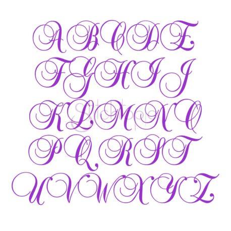 Stitchtopia Swirl Script Monogram Font