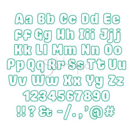 Stitchtopia Archie Applique Font - All Letters