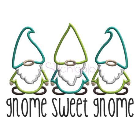 Stitchtopia Gnome Sweet Gnome Applique