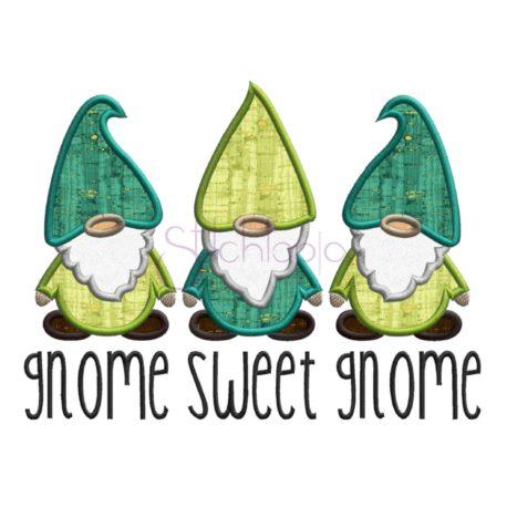 Stitchtopia Gnome Sweet Gnome Applique with Fabric