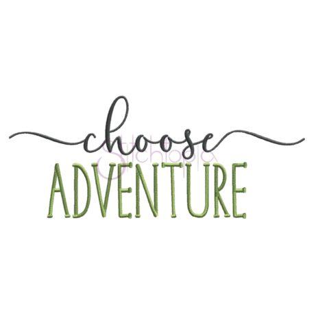 Stitchtopia Choose Adventure Emboidery Design