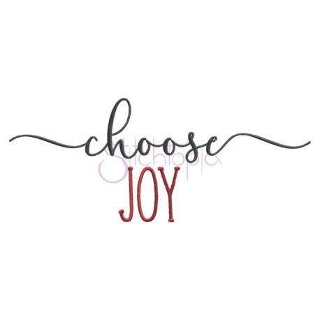 Stitchtopia Choose Joy Embroidery Design
