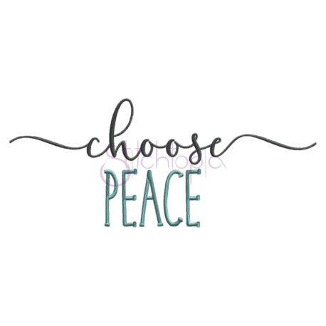 Stitchtopia Choose Peace Embroidery Design