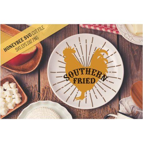 HoneybeeSVG Southern Fried Chicken SVG Cut File