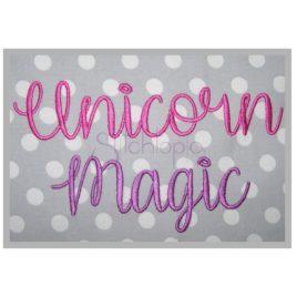Unicorn Magic Embroidery Font – 1″ 1.25″ 1.5″ 2″ 2.5″