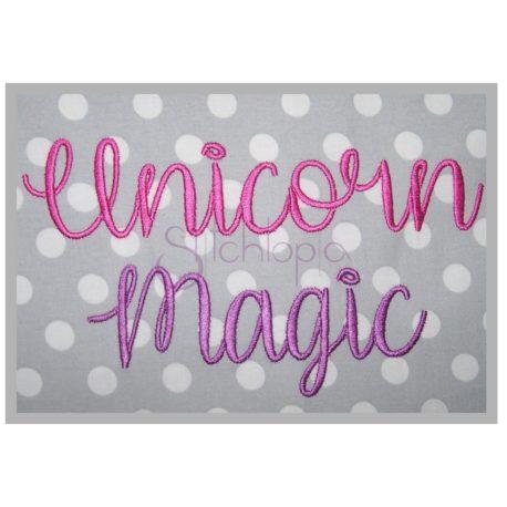 Stitchtopia Unicorn Magic Embroidery Font