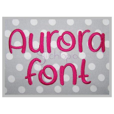 Stitchtopia Aurora Embroidery Font