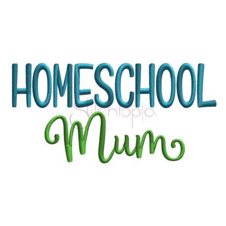 Stitchtopia Homeschool Mom Embroidery Design