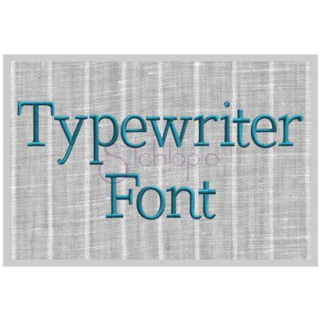 Stitchtopia Typewriter Embroidery Font