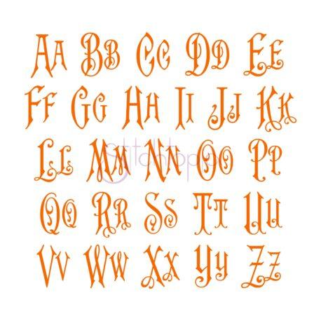 Stitchtopia Vintage Embroidery Monogram Font