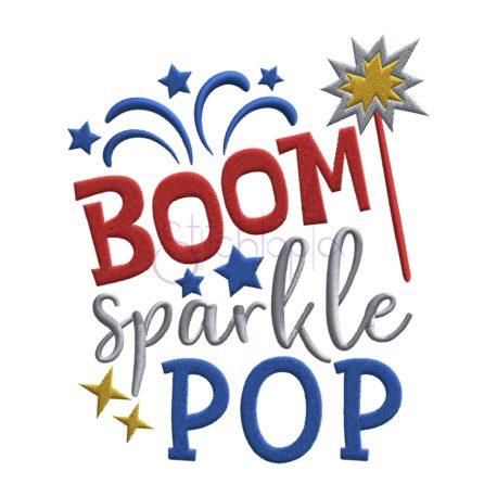 Stitchtopia Boom Sparkle Pop Embroidery Design