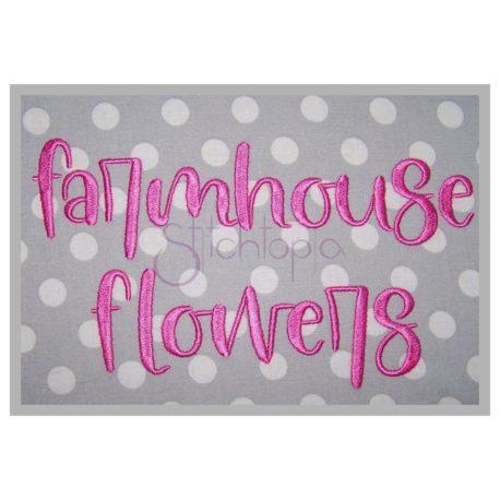 Stitchtopia Farmhouse Flowers Embroidery Font