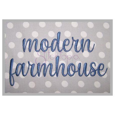 Stitchtopia Modern Farmhouse Embroidery Font