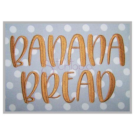 Stitchtopia Banana Bread Embroidery Font
