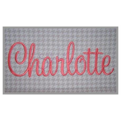 Stitchtopia Charlotte Embroidery Font