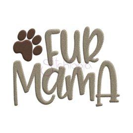 Fur Mama Embroidery Design