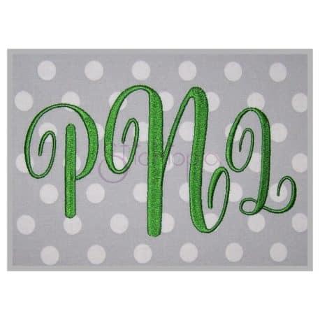Stitchtopia Pretty Monogram Embroidery Font