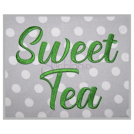 Stitchtopia Sweet Tea Embroidery Font