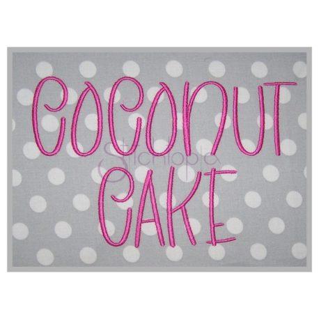 Stitchtopia Coconut Cake Embroidery Font