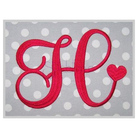 Stitchtopia Hearts Monogram Font - Large