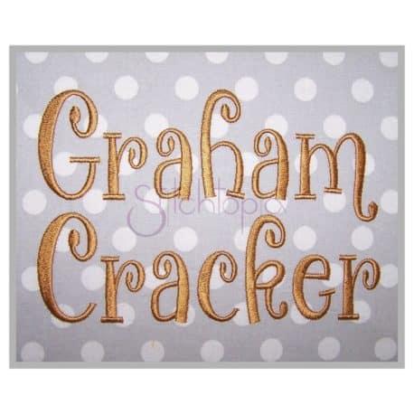 Stitchtopia Graham Cracker Embroidery Font