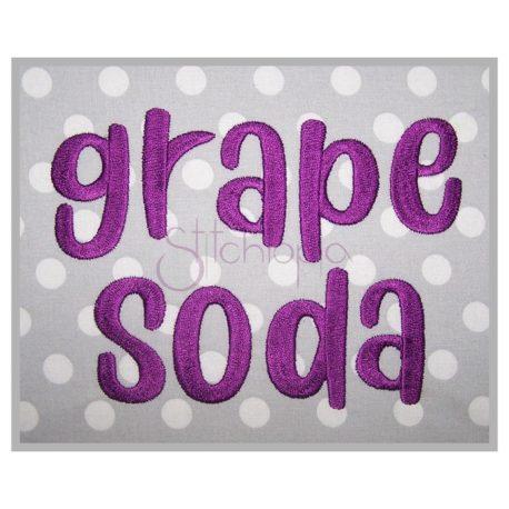 Stitchtopia Grape Soda Embroidery Font