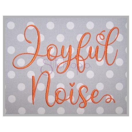 Stitchtopia Joyful Noise Embroidery Design