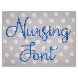 Nursing Embroidery Font #1 – 1″ 1.25″ 1.5″ 2″ 2.5″