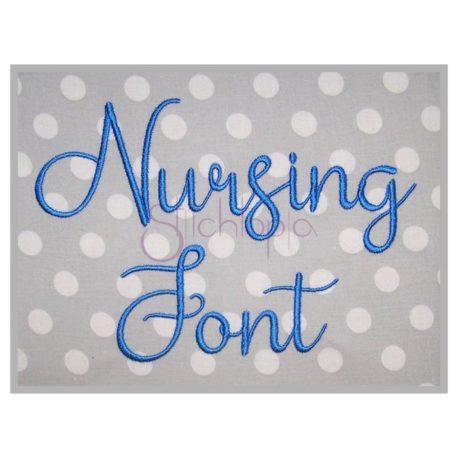 Stitchtopia Nursing Embroidery Font #1