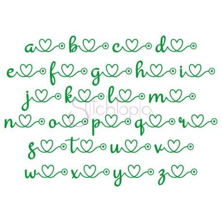 Stitchtopia Nursing Embroidery Font #2 – Alternate Lowercase