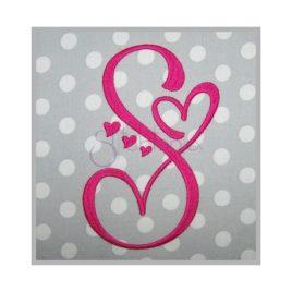 Sweetheart Embroidery Monogram 4″ 4.5″ 5″ 6″ 7″ 8″