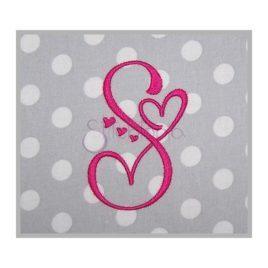 Sweetheart Embroidery Monogram 1″ 1.5″ 2″ 2.5″ 3″ 3.5″