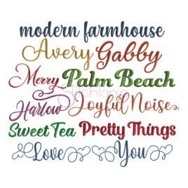 Script Embroidery Font Bundle #6 – 10 Fonts