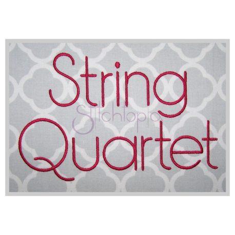 Stitchtopia String Quartet Embroidery Font