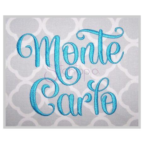 Stitchtopia Monte Carlo Embroidery Font