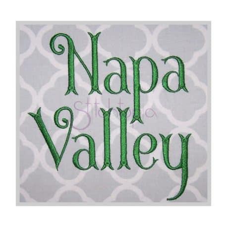 Stitchtopia Napa Valley Embroidery Font